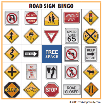 Free Printable Road Sign Bingo Game Great For Road Trips Modmomtv