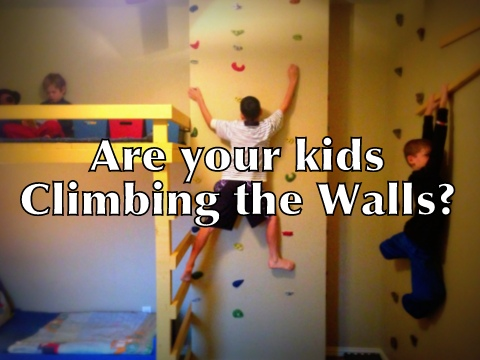 Kids' Indoor Rock Climbing Wall and Reading Loft