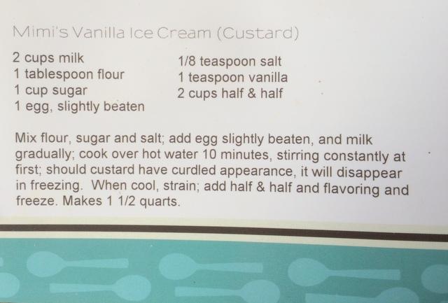 Homemade Vanilla Custard Ice Cream