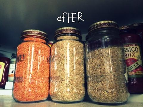 Mason Jar bulk storage