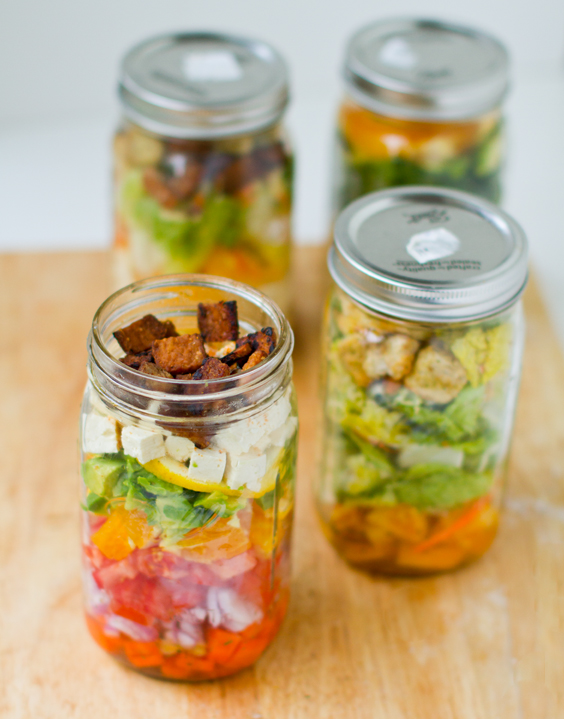 Mason Jar Salads make-ahead meal prep