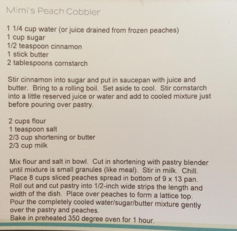 Mimi's Homemade Peach Cobbler