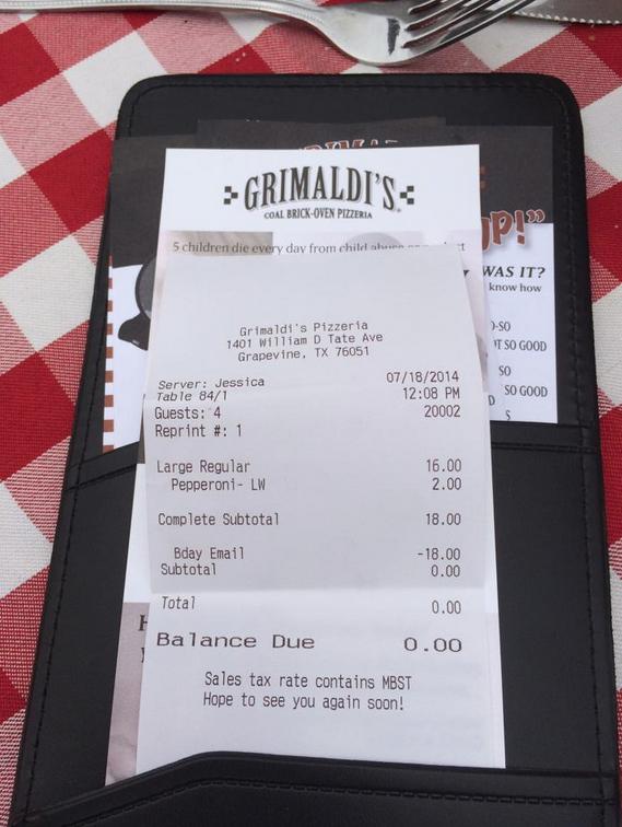 grimaldi's birthday coupon discount