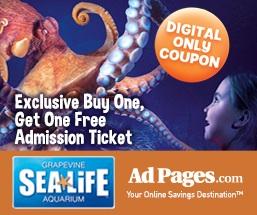 sea life aquarium rare bogo free coupon save up to 20 modmomtv. Black Bedroom Furniture Sets. Home Design Ideas