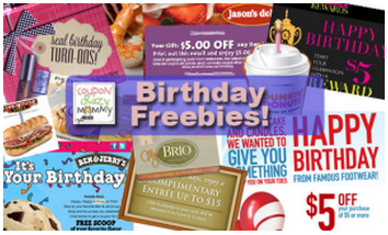 birthday freebies get free stuff on birthday