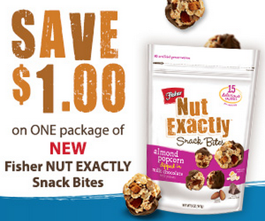 Printable Coupon: $1/1 Fisher NUT EXACTLY Item Coupon (Plus – $3 Cash Back Snap By Groupon Offer ...
