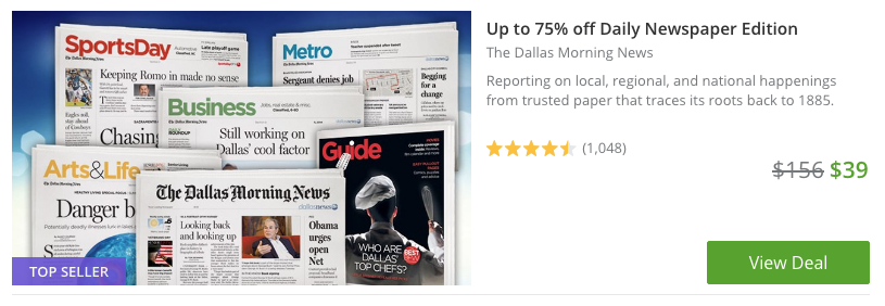 dallas morning news subscription coupon deal discount