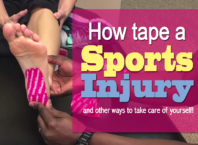 how to tape a sports injury