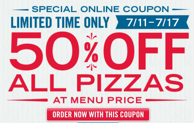 Dominos coupons booklet