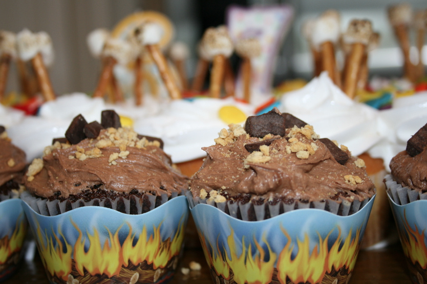 S'mores Cupcakes camping theme birthday