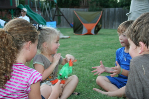 games outdoor Camping Birthday Party ideas