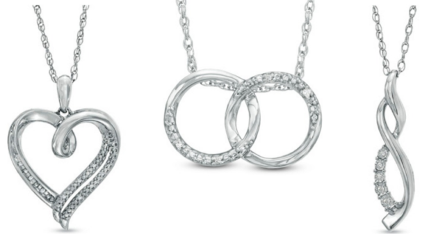 Zales Diamond Accent Necklaces as low as $19 99 Shipped