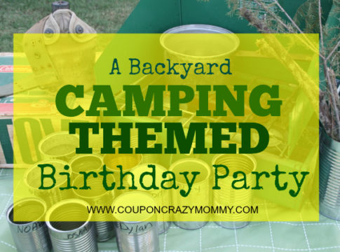 camping scout birthday party backyard outside