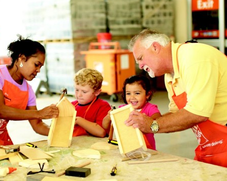 Home Depot Free Kids Workshop 2017 Schedule