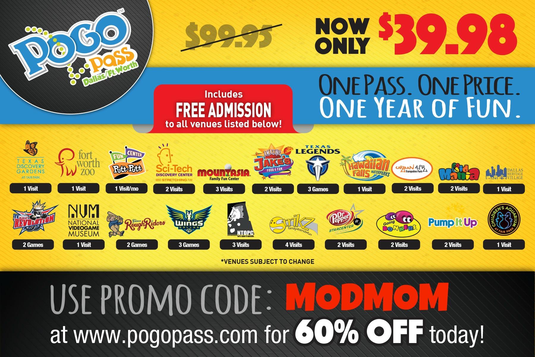 pogo pass Hawaiian falls coupon