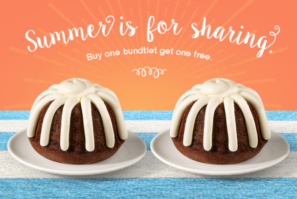 graphic about Nothing Bundt Cakes Coupons Printable identified as Very little Bundt Cakes Coupon - BOGO Free of charge Bundtlet!