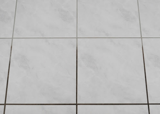 light colored grout bathroo