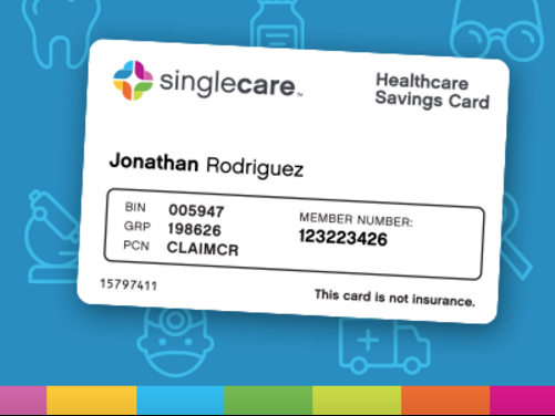 sign up here and start saving money on your medical expenses - Singlecare Prescription Card