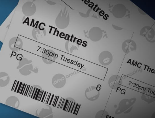 graphic relating to Amc Printable Coupons named AMC Stub Participants: $5 for Video clip Tickets upon Tuesdays! - ModMomTV