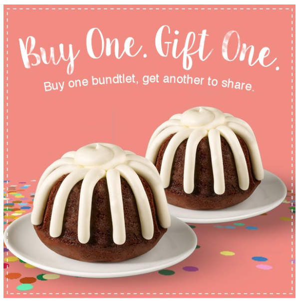 picture relating to Nothing Bundt Cakes Coupons Printable referred to as Very little Bundt Cakes: Get 1 Bundtlet, Acquire A single No cost! ($3.99