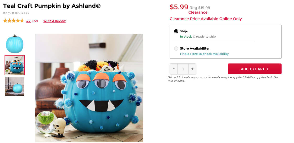 where to buy teal pumpkin