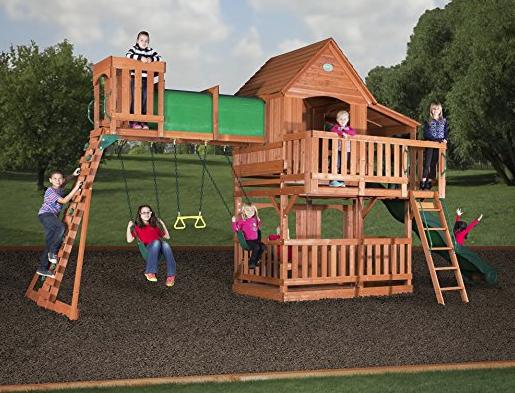 Backyard Discovery Woodridge II All Cedar Wood Playset