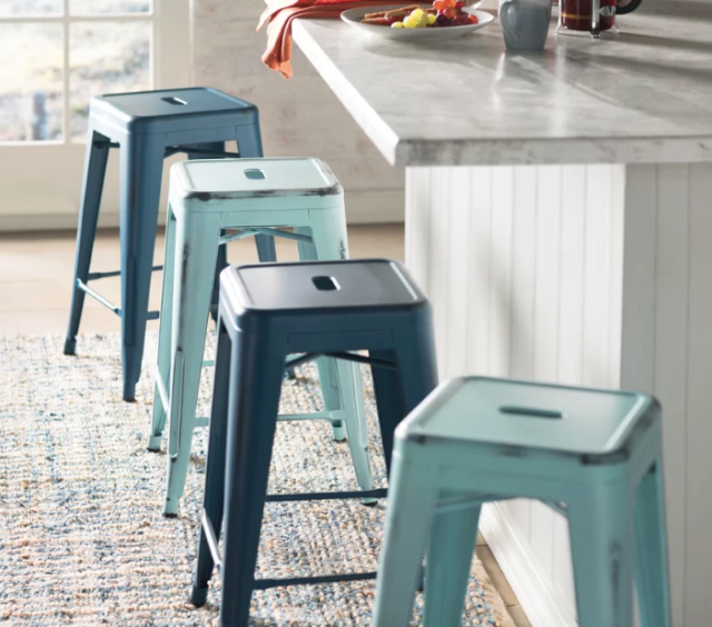 Awesome Wayfair Lompoc 24 Metal Bar Stools Only 26 99 Reg 88 Ibusinesslaw Wood Chair Design Ideas Ibusinesslaworg