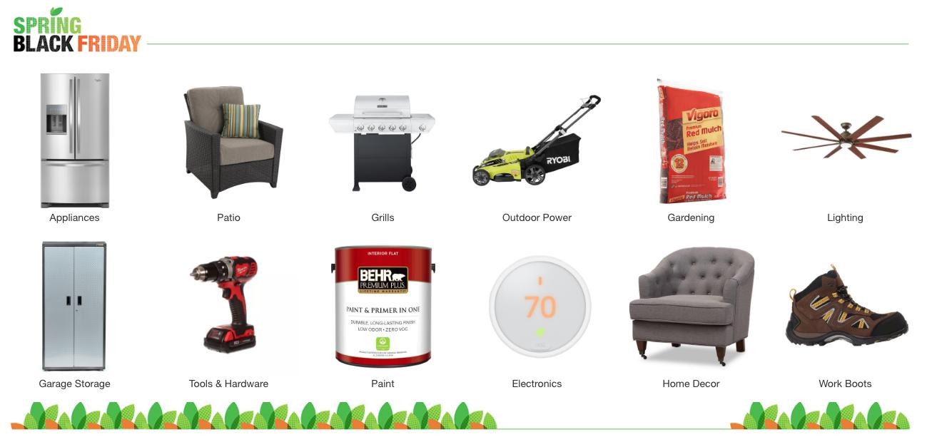Home Depot Spring Black Friday Deals = $2 Mulch, 35% off Appliances ...