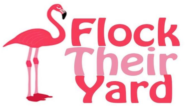 pink yard flamingos flock their yard